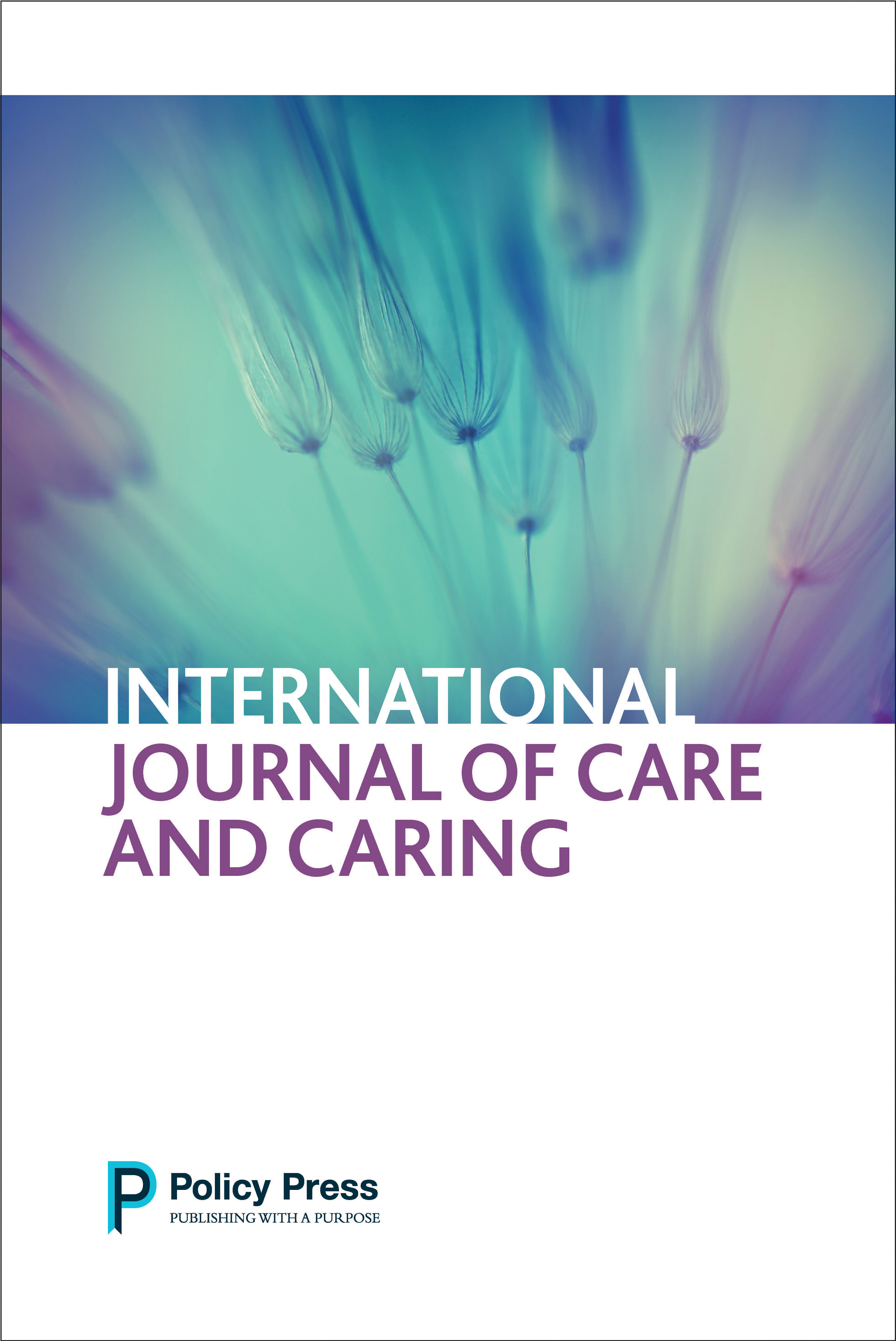 International journal of care and caring cover
