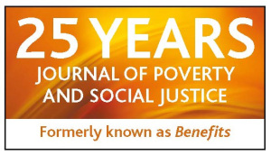 Celebrating 25 years of the Journal of Poverty and Social Justice with a FREE anniversary article